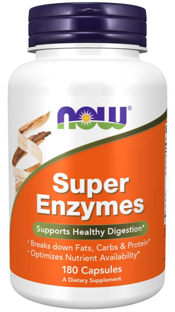 Now Foods Super Enzymes Capsules - 180 Cap