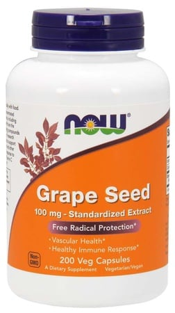 Now Foods Grape Seed 100 Mg - 200 VCap