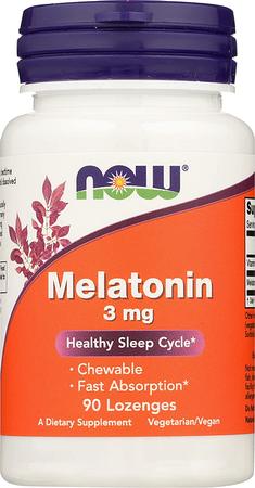 Now Foods Melatonin 3 mg Lozenges - 90 Lozenges