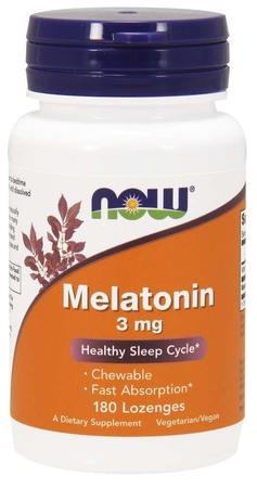 Now Foods Melatonin 3 mg Lozenges - 180 Lozenges