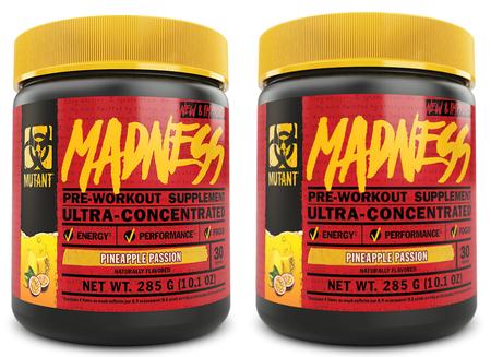 Mutant Madness Pre Workout Pineapple Passion TWINPACK - 2 x 30 Serv Btls ($29.99 For 2 BTLS w/DPS10 Coupon code)