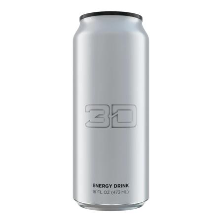 3D Energy Drink Chrome - 12 x 16 oz Cans