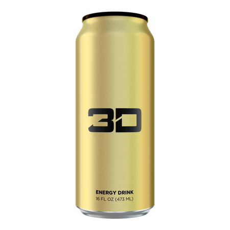 3D Energy Drink Gold - 12 x 16 oz Cans