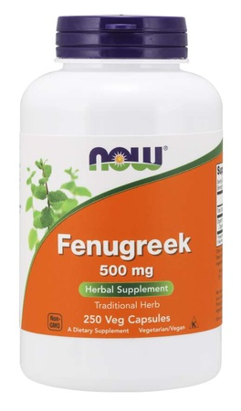 Now Foods Fenugreek 500 Mg - 250 VCap