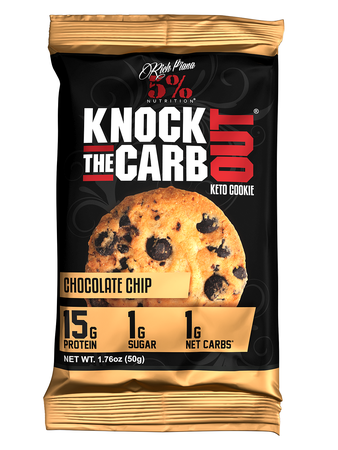 5% Nutrition KTCO Knock the Carb Out Keto Cookies  Chocolate Chip - 10 Cookies