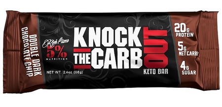 5% Nutrition Knock The Carb Out Bars Double Dark Chocolate Chip - 10 Bars