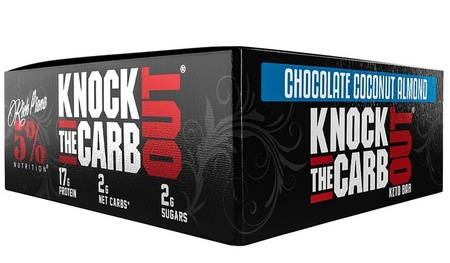 5% Nutrition Knock The Carb Out Bars Chocolate Coconut Almond - 10 Bars