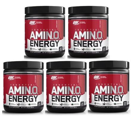 -Optimum Nutrition Essential Amino Energy Fruit Punch - 100 Servings (5 x 20 Servings)