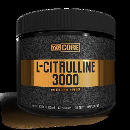 5% Nutrition CORE L-Citrulline 3000 - 60 Servings