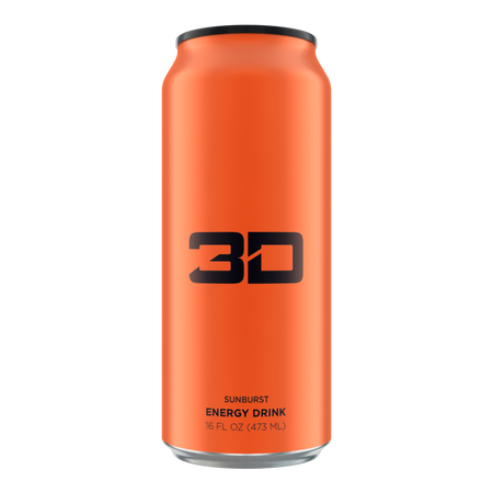 3D Energy Drink Orange  Sunburst - 12 x 16 oz Cans