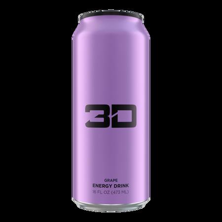 3D Energy Drink Purple  Grape - 12 x 16 oz Cans