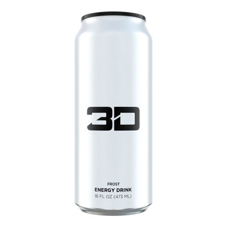 3D Energy Drink White  Frost - 12 x 16 oz Cans