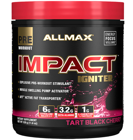 AllMax Nutrition Impact Igniter Tart Black Cherry - 328 Grams