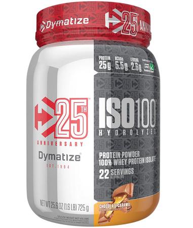 Dymatize ISO 100 Chocolate Caramel - 1.6 Lb *Expiration date 8/21 ($15.99 w/DPS10 coupon code)