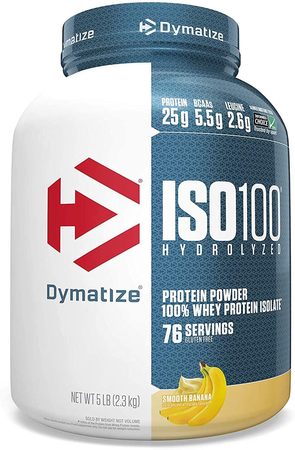 Dymatize ISO 100 Whey Protein Isolate  Smooth Banana - 5 Lb (76 Servings)  ($67.99 w/coupon code DPS10)