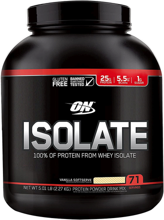 Optimum Nutrition Isolate Protein Vanilla - 5 Lb (71 Servings)