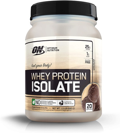 -Optimum Nutrition Whey Protein Isolate Chocolate - 1.5 Lb (20 Servings) ($15.99 w/coupon code DPS10)