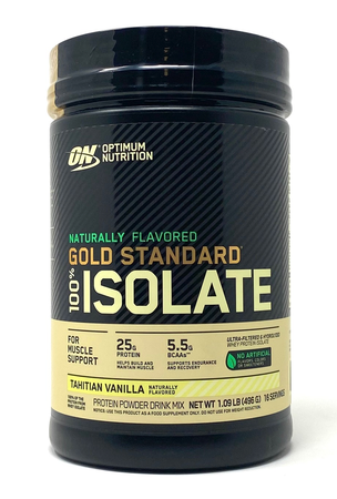 -Optimum Nutrition Gold Standard 100% Isolate Tahitian Vanilla - 1.09 Lb (16 Servings) ($13.99 w/coupon code DPS10)