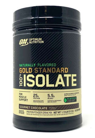 -Optimum Nutrition Gold Standard 100% Isolate Gourmet Chocolate - 1.13 Lb (16 Servings) ($13.99 w/coupon code DPS10)