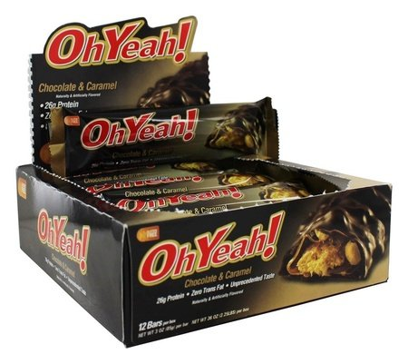 Iss Oh Yeah Bars Original Milk Choc Peanuts Caramel - 12 Bars