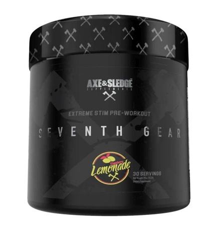 Axe & Sledge Seventh Gear Pre-Workout  Raspberry Lemonade - 30 Servings