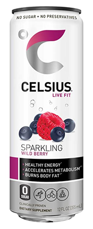 Celsius RTD Sparkling Wild Berry Energy Drink 12oz  - 12 Cans