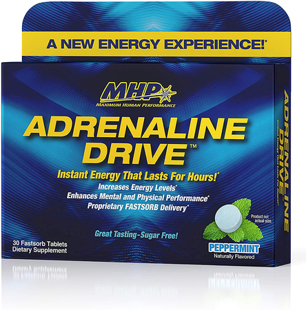 MHP Adrenaline Drive Peppermint - 30 Fastsorb Tablets ($9.99 w/coupon DPS10 - Buy 3 at $8.99)