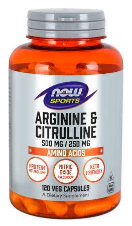 Now Foods Arginine & Citrulline - 120 Cap