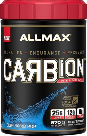 AllMax CARBion+ with Electrolytes + Hydration  Blue Bomb Pop - 30 Servings