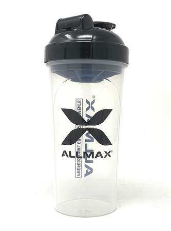 AllMax Nutrition Shaker Bottle Clear  25 oz