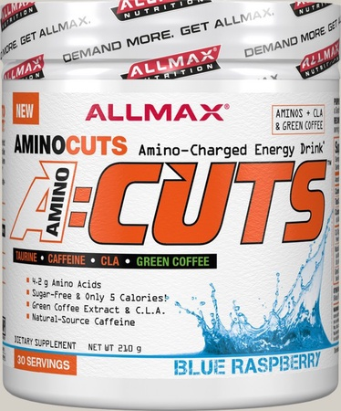AllMax Nutrition Amino Cuts Blue Raspberry - 30 Servings