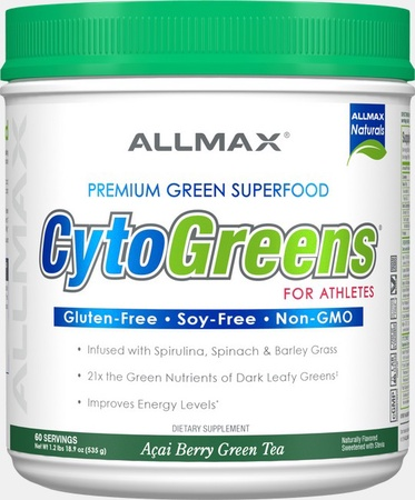 AllMax Nutrition CytoGreens Acai Berry Green Tea - 60 Servings