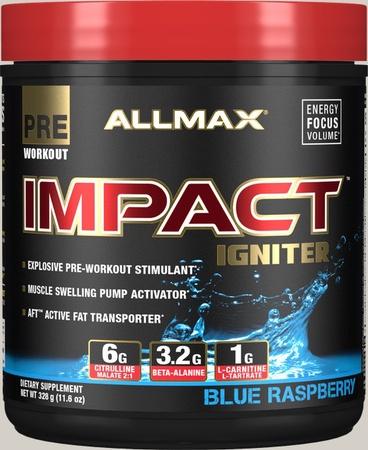 AllMax Nutrition Impact Igniter Blue Raspberry - 328 Grams