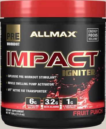 AllMax Nutrition Impact Igniter Fruit Punch - 328 Grams