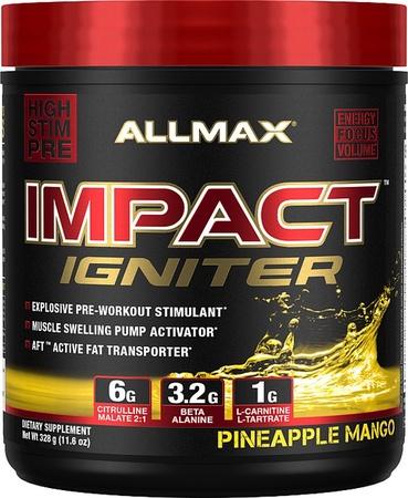 AllMax Nutrition Impact Igniter Pineapple Mango - 328 Grams
