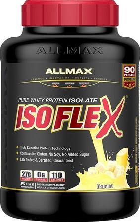 AllMax Nutrition IsoFlex Whey Protein Isolate Banana - 5 Lb