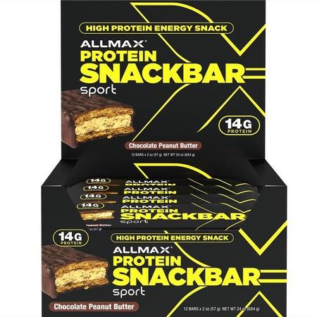 AllMax Protein Snack Bar - Chocolate Peanut Butter - 12 Bars