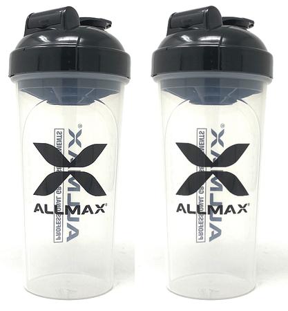 AllMax Nutrition Shaker Bottle Clear TWINPACK (2 Shaker Bottles)