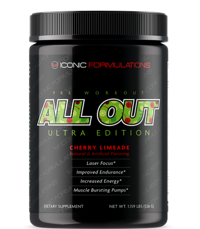 Iconic Formulations All Out Ultra Edition Cherry Limeade - 20-40 Servings