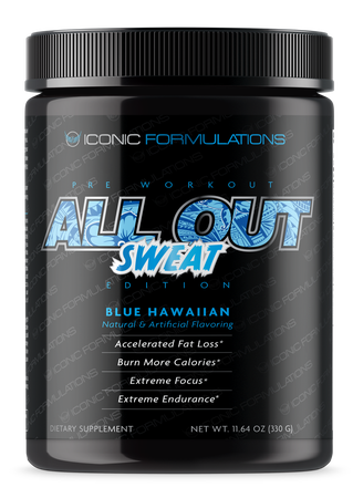 Iconic Formulations All Out Sweat Blue Hawaiian - 20-40 Servings