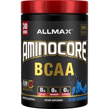AllMax Nutrition Aminocore BCAA Blue Raspberry - 30 Servings
