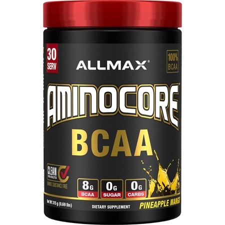 AllMax Nutrition Aminocore BCAA  Pineapple Mango - 30 Servings
