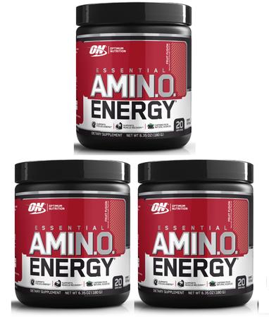 -Optimum Nutrition Amino Energy Fruit Punch - 60 Servings (3 x 20 Servings) *29.99 w/coupon code DPS10