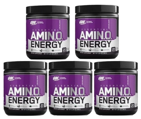 -Optimum Nutrition Essential Amino Energy Grape - 100 Servings (5 x 20 Servings)