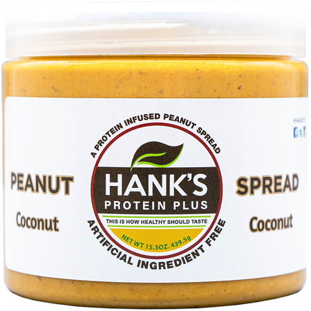 Hank's Protein Plus Peanut Spread  Coconut  - 15.5 oz