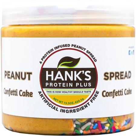 Hank's Protein Plus Peanut Spread  Confetti Cake - 15.5 oz