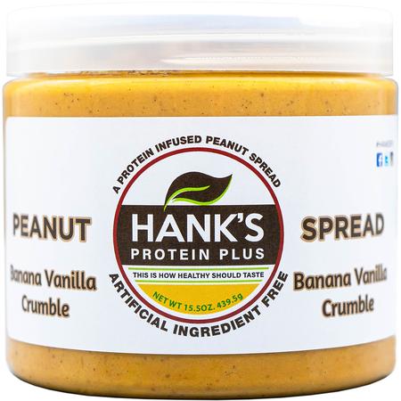 Hank's Protein Plus Peanut Spread  Banana Vanilla Crumble - 15.5 oz