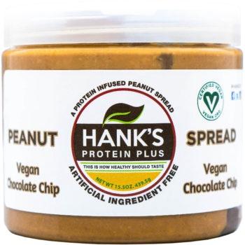 Hank's Protein Plus Peanut Spread  Vegan Chocolate Chip - 15.5 oz