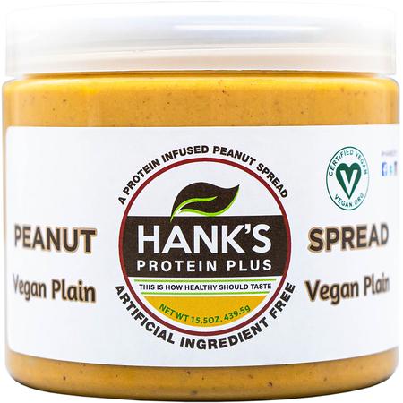 Hank's Protein Plus Peanut Spread  Vegan Plain - 15.5 oz
