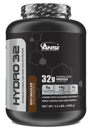 ANSI Hydro 32 Hydrolyzed Whey Isolate Protein Chocolate - 3.5 Lb